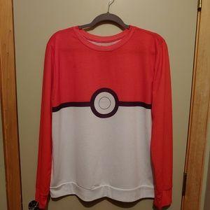 Pokemon Long Sleeve T Shirt Red White